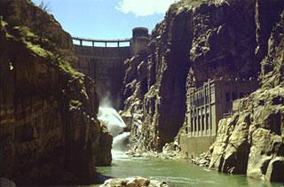 Shoshone Buffalo Bill Dam Shoshone River Wy Fwee